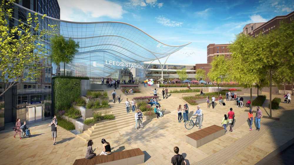 Indicative image of new main station entrance - Leeds City Council